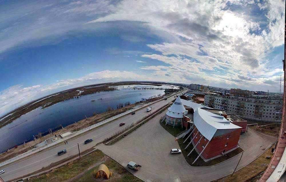 река лена, город Якутск