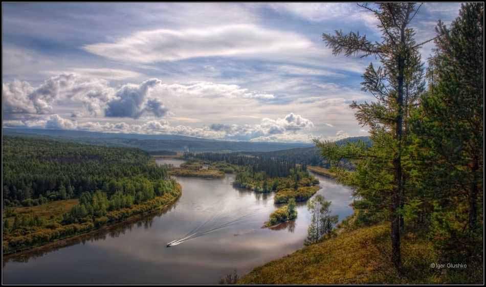 река Лена в Иркутской области